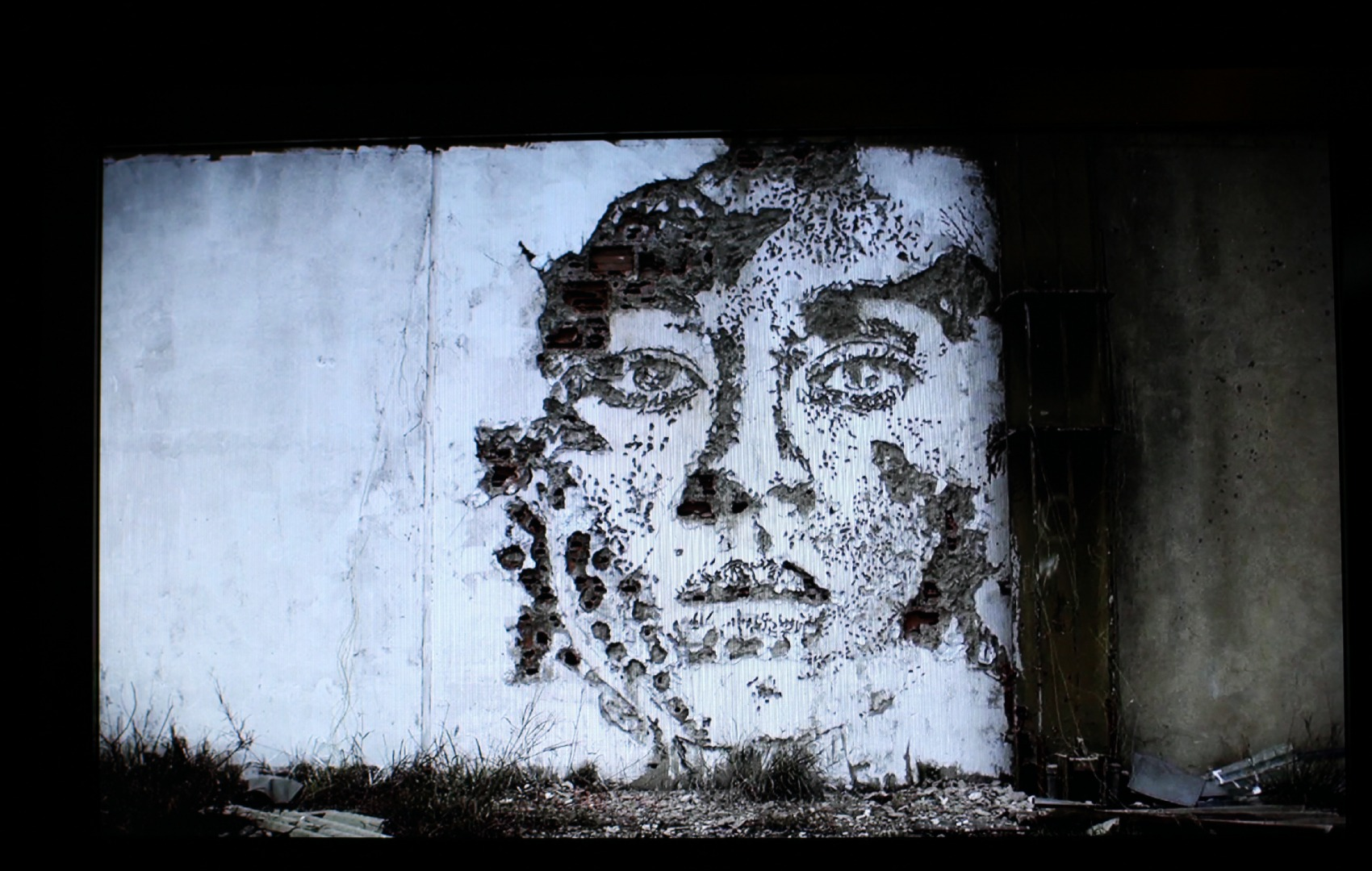 VHILS Work on walls by Lisbon by Light